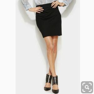 INC International Concepts Black Ponte Skirt NWT 8